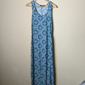 Maxi blue summer dress